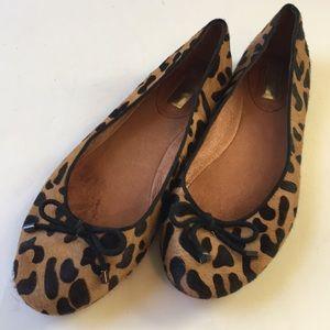Halogen Ballet Flats Fur Print Leopard Cheetah 9 M
